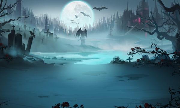 Vampire Cemetery Illustration (Turbo Premium Space)