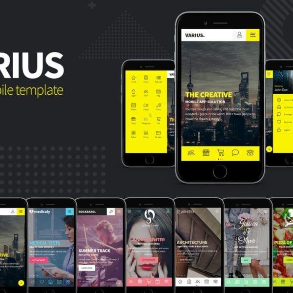 Varius - HTML Mobile Template