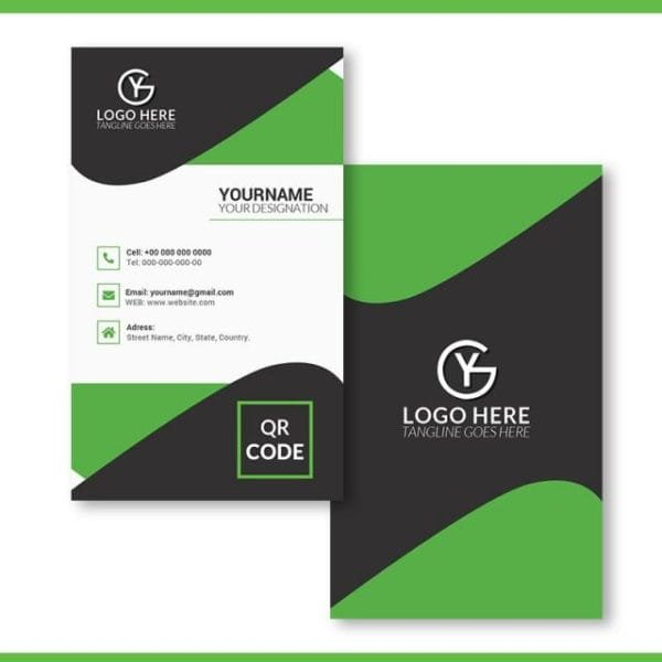 Vertical Business Card Template (Turbo Premium Space)