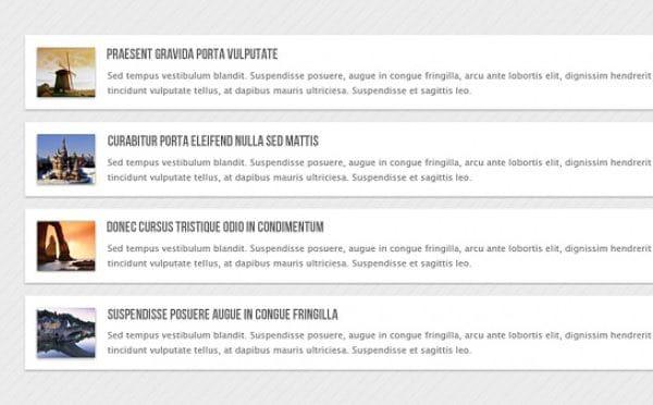 Vertical news carousel html