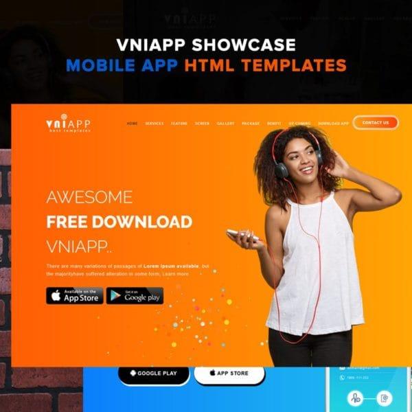 VniApp - Showcase Mobile App HTML Template