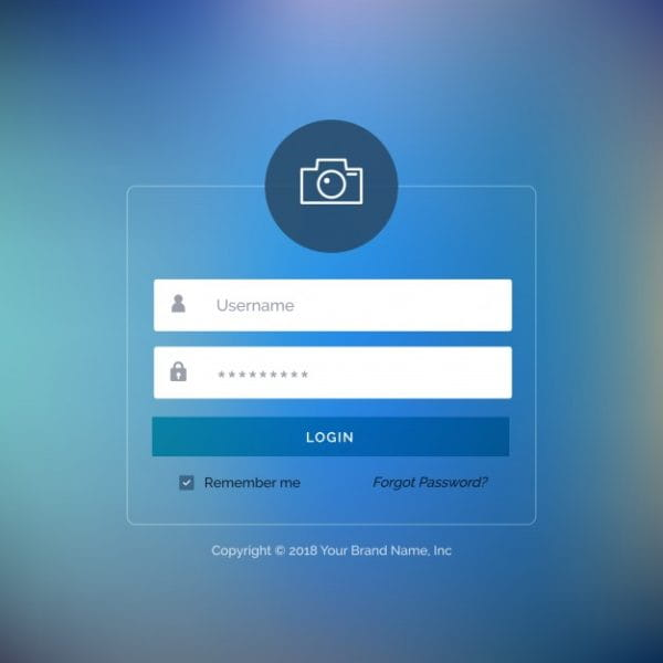 Web login template with blue (Turbo Premium Space)
