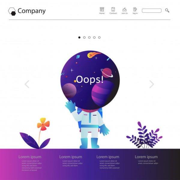 Website template design (Turbo Premium Space)