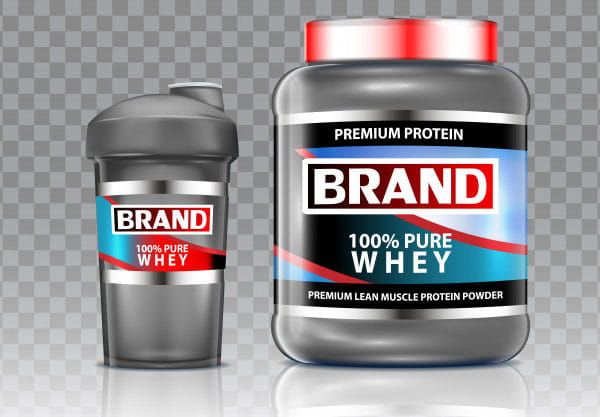 Whey protein shaker vector