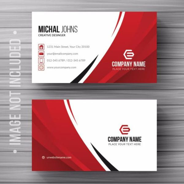 White Business Card With Details