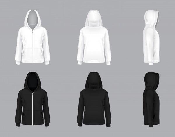 White and black hoodie