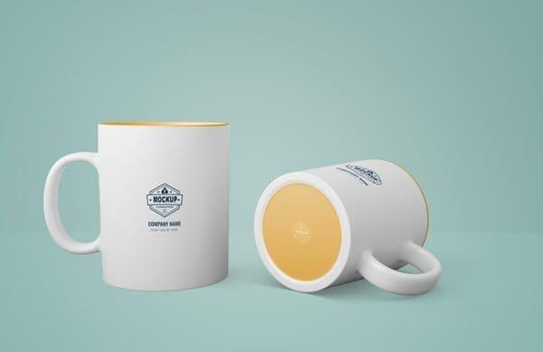 White mug with company