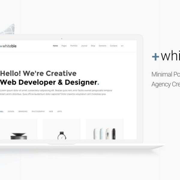Whiteble - Minimal &Clean Portfolio, Agency, Shop