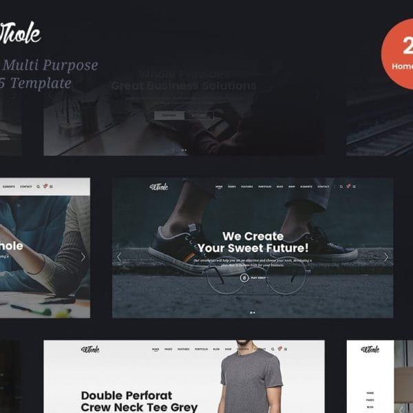 Whole - Responsive Multi-Purpose HTML5 Template