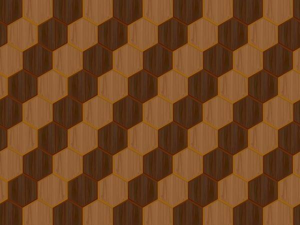 Wooden Hexagon Design Pattern Background