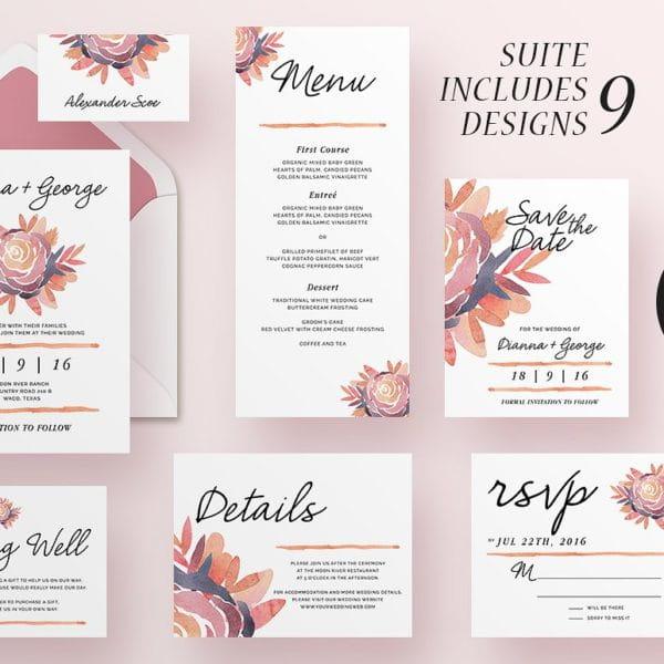 Wedding Invitation Suite - Alli (Turbo Premium Space)