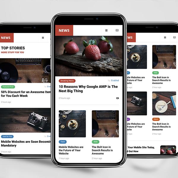 Google AMP Mobile News Template