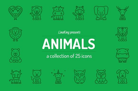 Animals Line Icons (Turbo Premium Space)