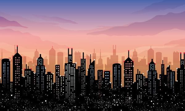 Illustration Landscape City building City Illustration (Turbo Premium Space)