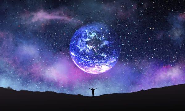 Healing System Beautiful Starry Fantasy Planet Good Night Hello Illustration