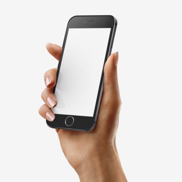 Hand Iphone Black Mockup