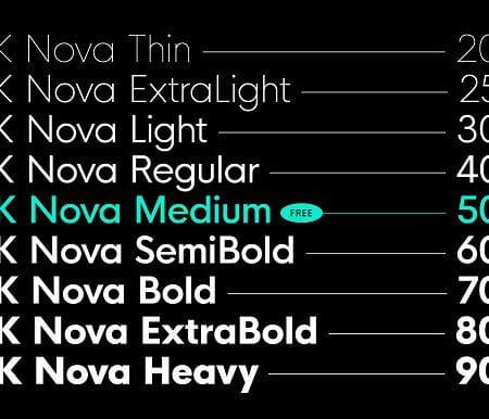 HK Nova™ Typeface