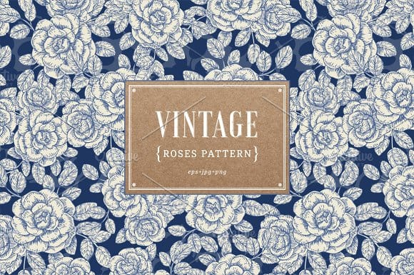Vintage roses pattern (Turbo Premium Space)