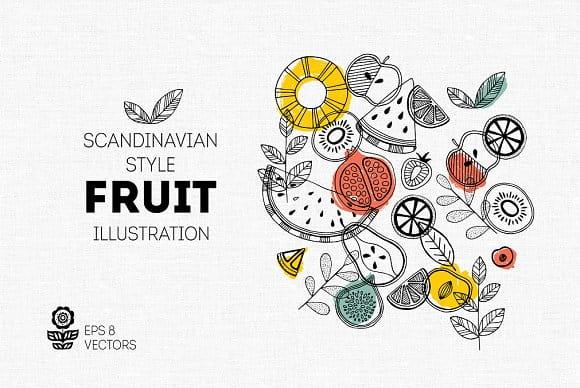 Fruit illustrations (Turbo Premium Space)