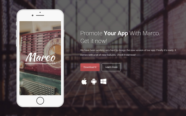 Marco – One Page Business Template