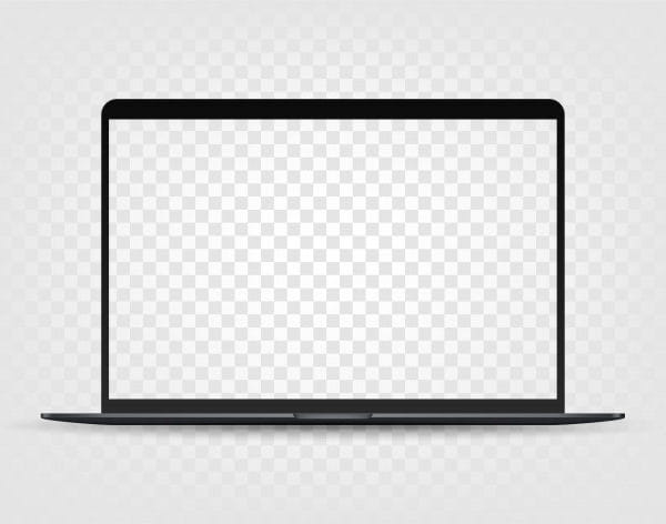 Modern laptop with transparent screen (Turbo Premium Space)