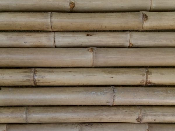 Bamboo Wood Panels Horizontal Banner Background