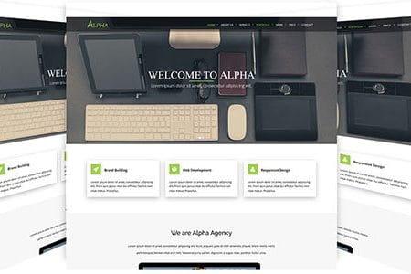 Alpha - HTML5 Landing Page