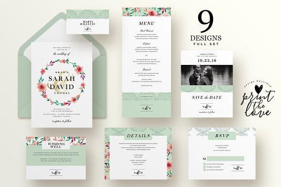 Wedding Invitation Suite - Sarah (Turbo Premium Space)