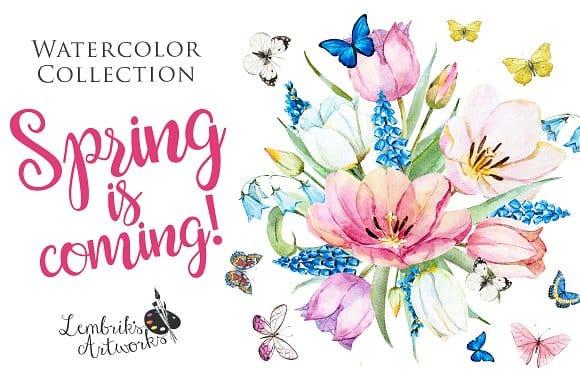 Spring is coming! Gentle watercolors (Turbo Premium Space)