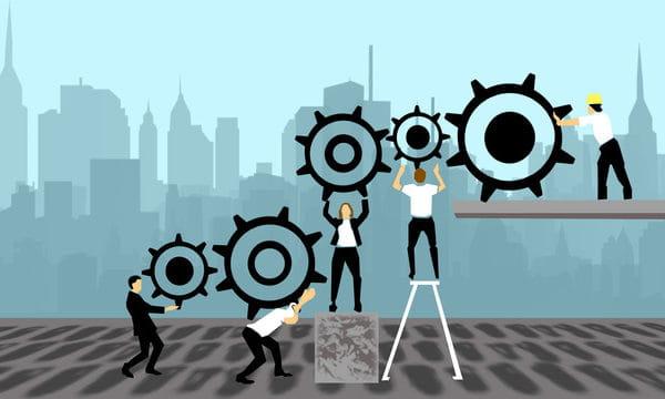 Team Cooperation Illustration Unity Illustration (Turbo Premium Space)
