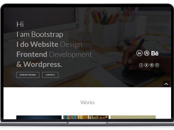Lightweight - Bootstrap Portfolio Template