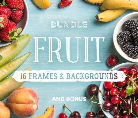 Fruit. 16 frames & backgrounds (Turbo Premium Space)