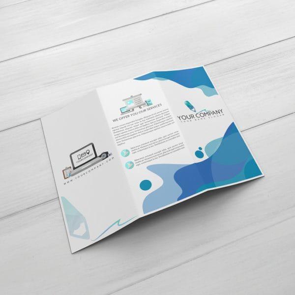 TriFold Brochure Mockup (Turbo Premium Space)